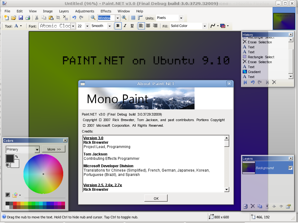 Paint net on ubuntu linux at compdigitec labs Paint for linux