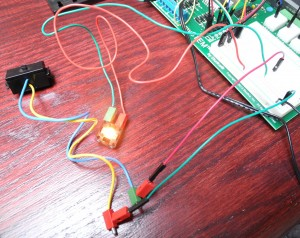 Series circuit with FT blinker on mySTEM board